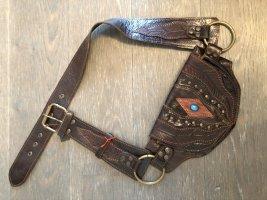Gürteltasche Bauchtasche Hipbag Sidebag Leder Larp Mittelalter Ethno