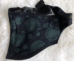 Bumbag black-forest green cotton