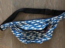 Gürteltasche Bauchtasche Sidebag Baumwolle Indigo Fisch Design