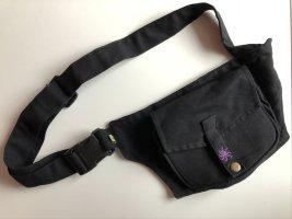 Gürteltasche Sidebag Bauchtasche schwarz Canvas Baumwolle