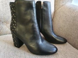Guess Zipper Booties black-silver-colored