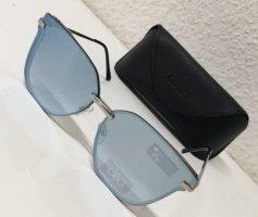 GUESS Cat Eye Sonnenbrille GG2143 06X Silber / Blau verspiegelt 63-12-140