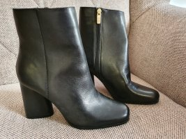 Guess Zipper Booties black-gold-colored