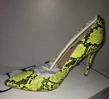 Guess High Heels neon yellow-black