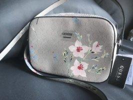 Guess Damen Handtasche Beige Blumen Cross Body 22x16x6cm