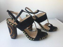 GUESS Damen High Heel Leder Sandaletten Gr.39