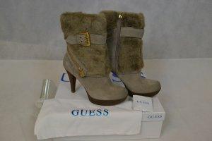 Guess Damen Schuhe Stiefelette  Gr. 40 , Braun / Leder