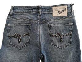Guess Jeansy z prostymi nogawkami niebieski Bawełna