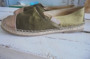 Guess Slip-on Shoes gold-colored-olive green