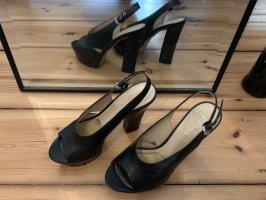 Guess Sandales à talon haut noir-argenté