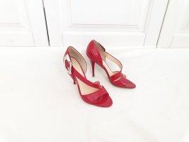 Guess Highheels High heels Stöckelschuhe Pump Stöckel schuhe glanzrot rot glanz 38