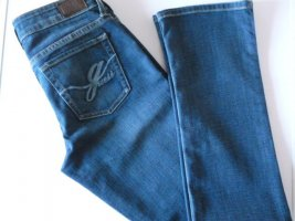 GUESS Jeans, Starlet straight, mittelblau, Used-Effekte, W27/L32