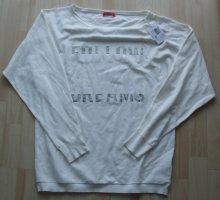 Guess Pulli Sweatshirt Strass - weiß - Gr. XL - Viskose