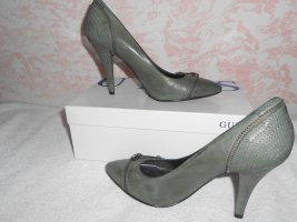 Guess High Heels green grey imitation leather