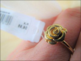 GUESS Ring Rose Gr. 54 goldfarben NEU m.Etikett NP 59,90-€
