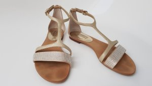 Guess Strapped High-Heeled Sandals gold-colored-oatmeal