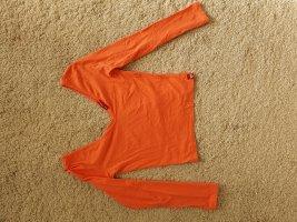 Guess Camisa tipo Carmen naranja