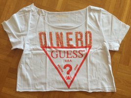 Guess Oversized shirt wit-rood