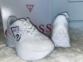 Guess Heel Sneakers white-black mixture fibre