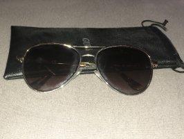 Guess Gafas de piloto color plata-marrón