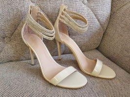 Guess Stiletto High Heels beige silber nude neu schuhe pumps sandalen sandaletten gr. 40