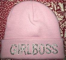 Guess Chapeau en tricot rose clair