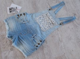 GUESS (UVP 129,90€) ~ JEANS SHORTS LATZHOSE  OVERALL ~ SIZE S neu