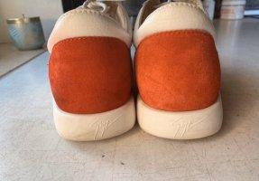 Guiseppe Zanotti Damenschuhe Leder weiß Sneakers 41 Designerschuhe Freizeitschuhe Turnschuhe