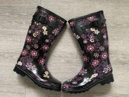 Blue Cox Gumowe buty czarny-różowy
