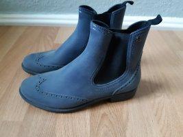 Botas de agua azul acero