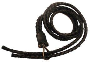 Guy Laroche Braided Belt black leather