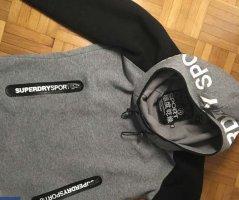 Superdry Sweat à capuche gris-noir