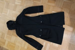H&M Divided Hooded Coat black mixture fibre