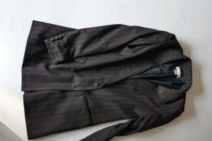 H&M Boyfriend blazer zwart-zwart bruin Polyester