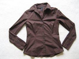 H&M bluse braun neu gr. xs 34 buero business klassiker