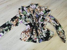 H&M Ruffled Blouse multicolored
