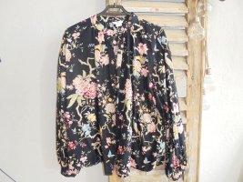 H&M Bluse schwarz Blumen Gr. 38