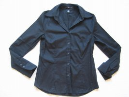 H&M bluse schwarz business gr. s 36 klassiker