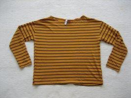 H&M bluse sommer streifen gelb curry topzustand gr. s 36