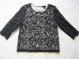 H&M bluse spitzenbluse gr. xs 34 neu