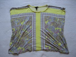 H&M bluse tunika sommer gelb muster gr. s 36 oversize