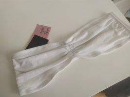 H&M Top gorsetowy biały