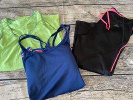 H&M clar Sport Set Top Capri Leggings Gr M/L Running Fitness