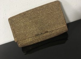H&M Clutch Gold Webeoptik