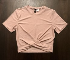 H&M Cropped top stoffig roze