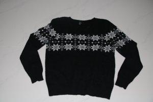 H&M Maglione norvegese nero-bianco sporco