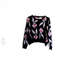 H&M Divided cropped Pullover Gr. M 40 Strickpullover Bugs Bunny schwarz grau rosa