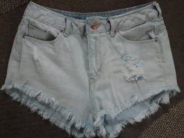 H&M Divided Jeans Hotpants Fransen used look Gr.34