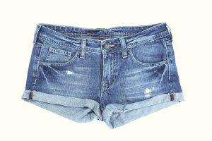 H&M DIVIDED Jeans Shorty Hot Pants destroyed Umschlag Gr.34