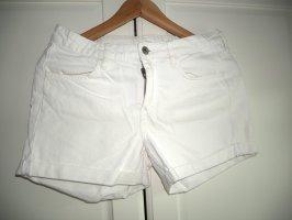 H&M Denim Shorts white
